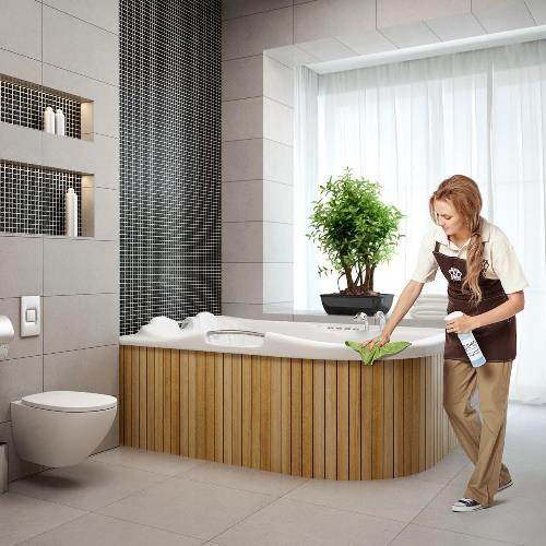 how to clean bathroom