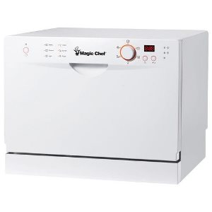 Magic Chef MCSCD6W3 6 Place Setting Countertop Dishwasher – Best Dishwasher for Location Options