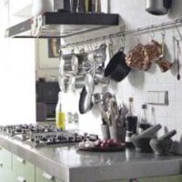 kitchen rails for pans and pots