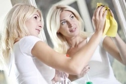 Bathroom cleaning: Mirrors and Glass Doors